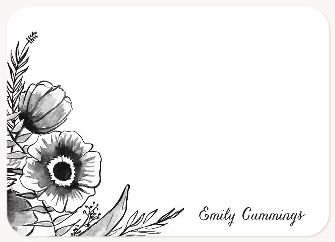 Illustrated Bouquet  Stationery