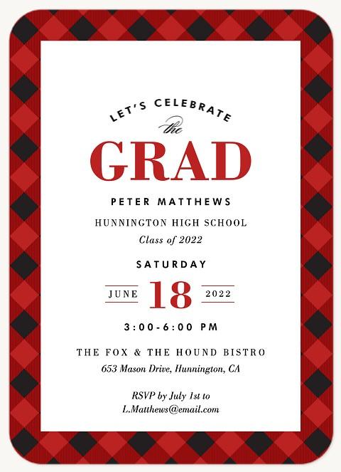 Plaid Grad Graduation