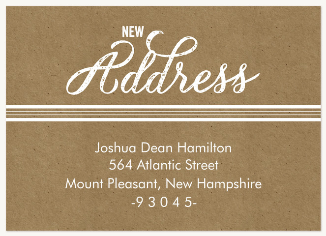 Rustic Home Moving Announcements