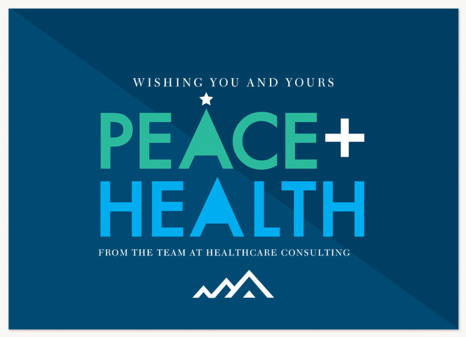 Peace & Health Business Holiday Cards
