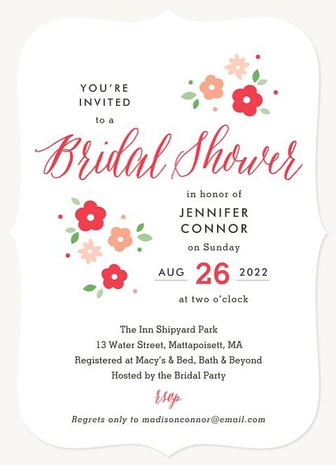 Ditsy Floral Bridal Shower Invitations