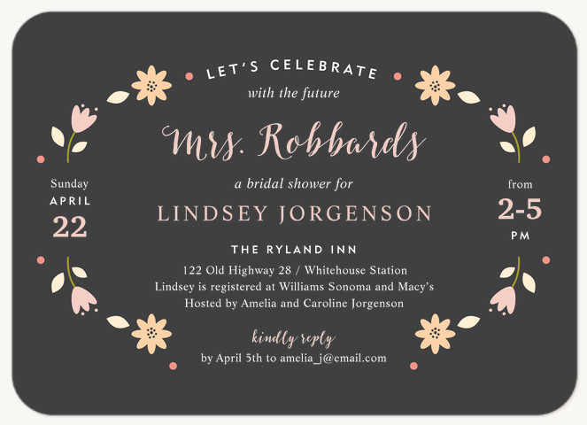 Flower Chain Bridal Shower Invitations