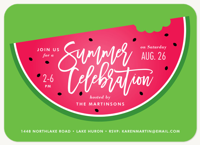Summer Treat Summer Party Invitations