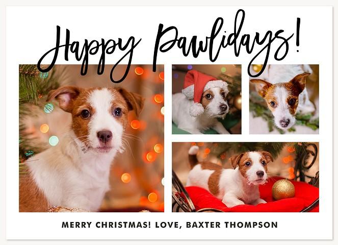 Happy Pawlidays Personalized Holiday Cards