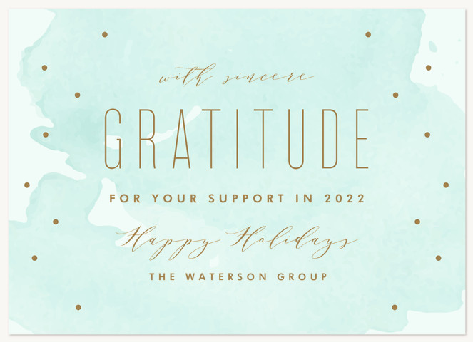 Holiday Gratitude Business Holiday Cards