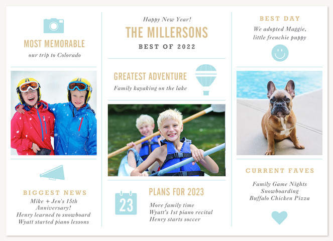 Year in Review Personalized Holiday Cards