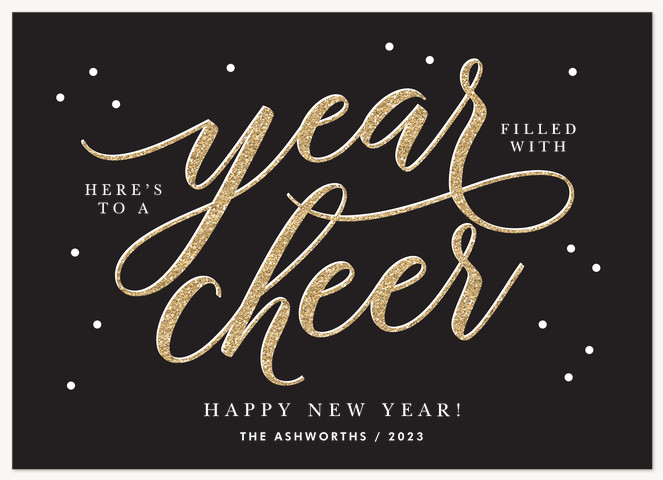 Sparkled Cheer Personalized Holiday Cards
