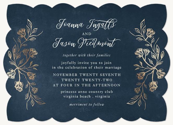 Indigo Splendor Wedding Invitations