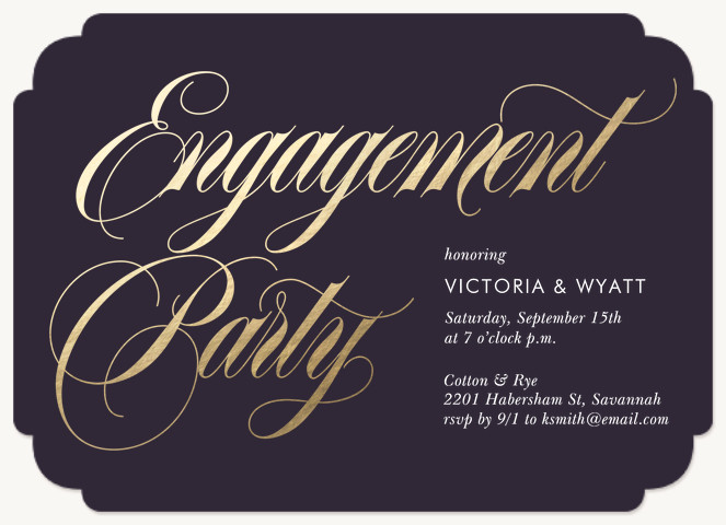 Grand Engagement Engagement Party Invitations