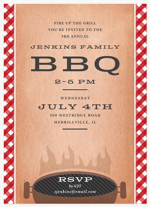 Classic BBQ Summer Party Invitations