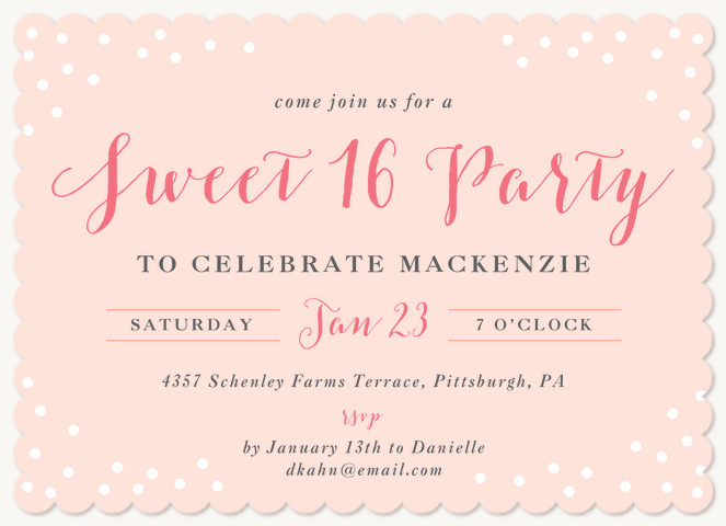 Sprinkled Surprise Teen Birthday Invitations