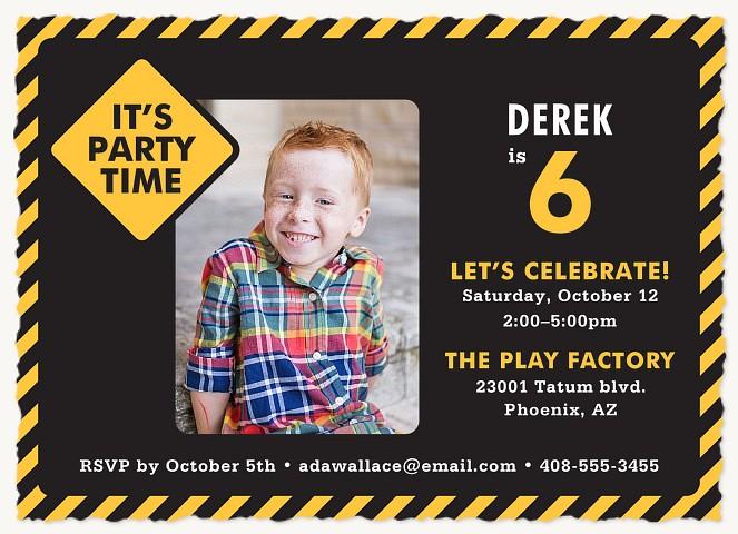 Fun Ahead Kids Birthday Invitations