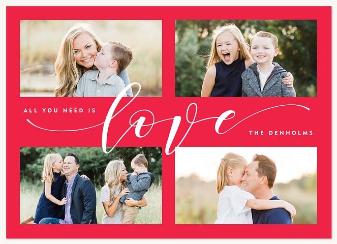 Calligraphic Love Valentines Cards