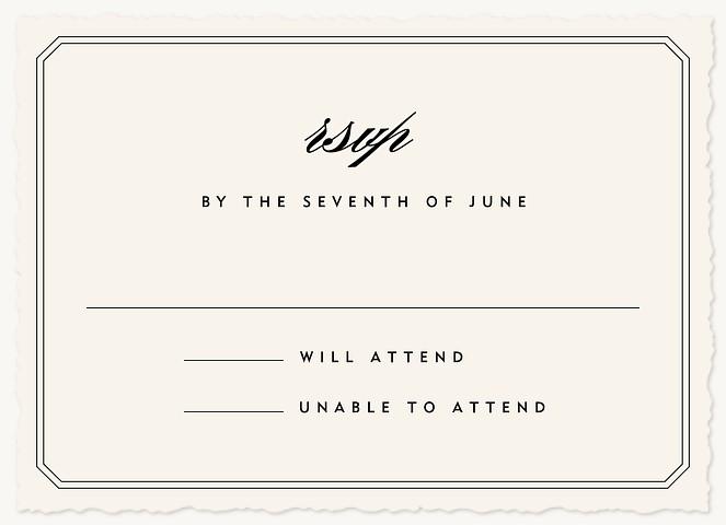Center Stage Wedding RSVP Cards
