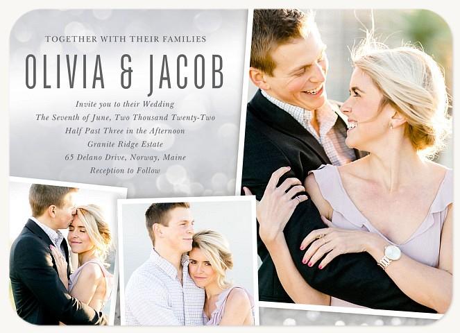 Bokeh Sparkle Wedding Invitations