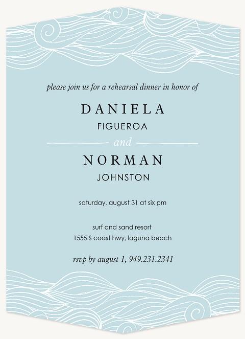 Ocean Swirls Rehearsal Dinner Invitations