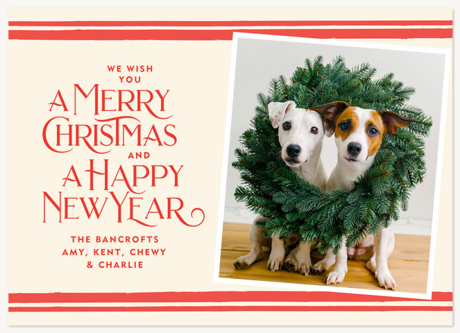 Vintage Wish Personalized Holiday Cards