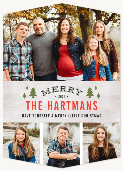 Charming Pines Personalized Holiday Cards