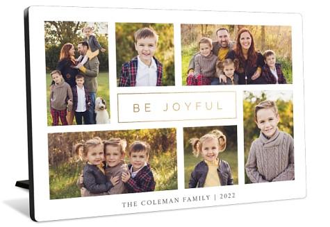 Modern Joy Collage Tabletop Photo Panel
