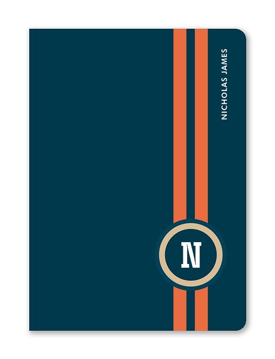 Moto Stripes Custom Journals