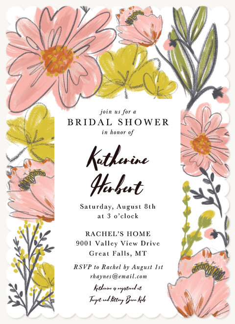 Garden Party Bridal Shower Invitations