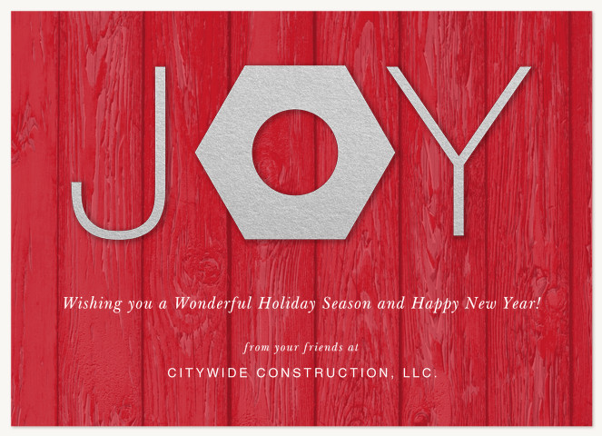 Construction Joy Business Holiday Cards
