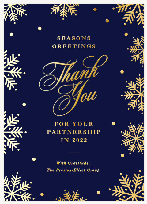 Formal Snow Business Holiday Cards