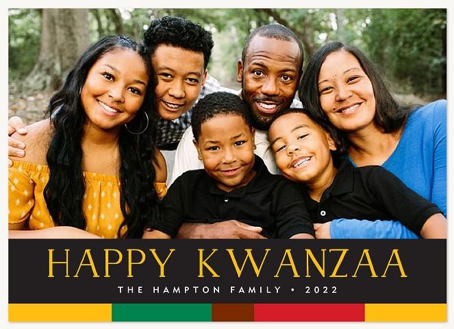 Colorful Kwanzaa Kwanzaa Cards
