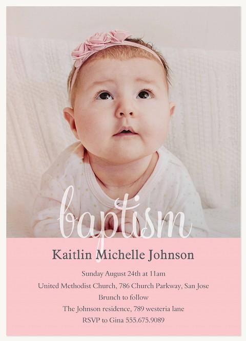 Baptism Blessing Blush Baptisms & Christening Invitations