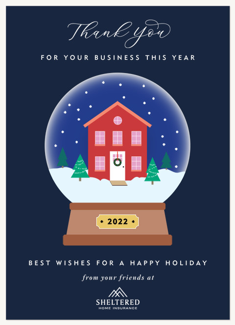 Cozy Home Business Holiday Cards